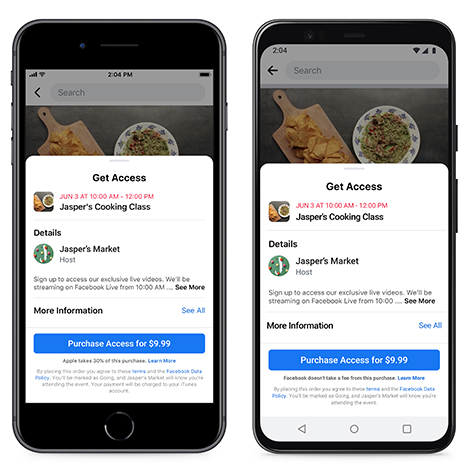 facebook events payments